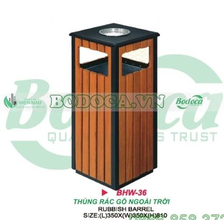 Thùng rác gỗ đặt trong thang máy HW-36