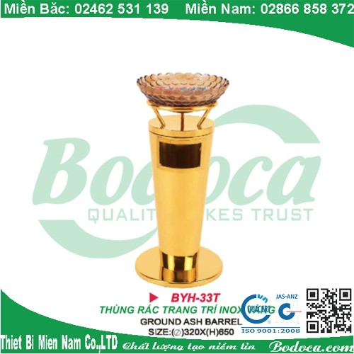 thung rac inox bodoca BYH 33T