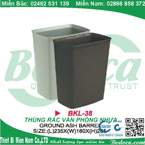 Thùng rác nhựa văn phòng BKL-38