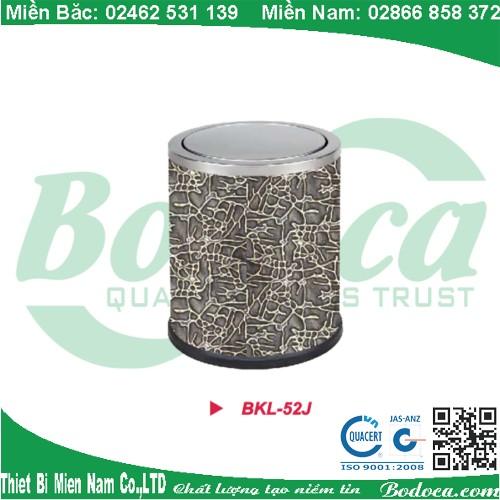 Thùng rác inox tròng văn phòng nắp lật BKL-52J