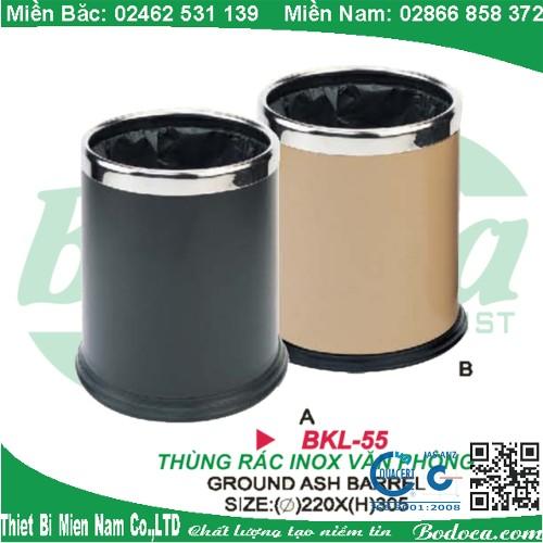 Thùng rác inox dùng cho văn phòng BKL-55