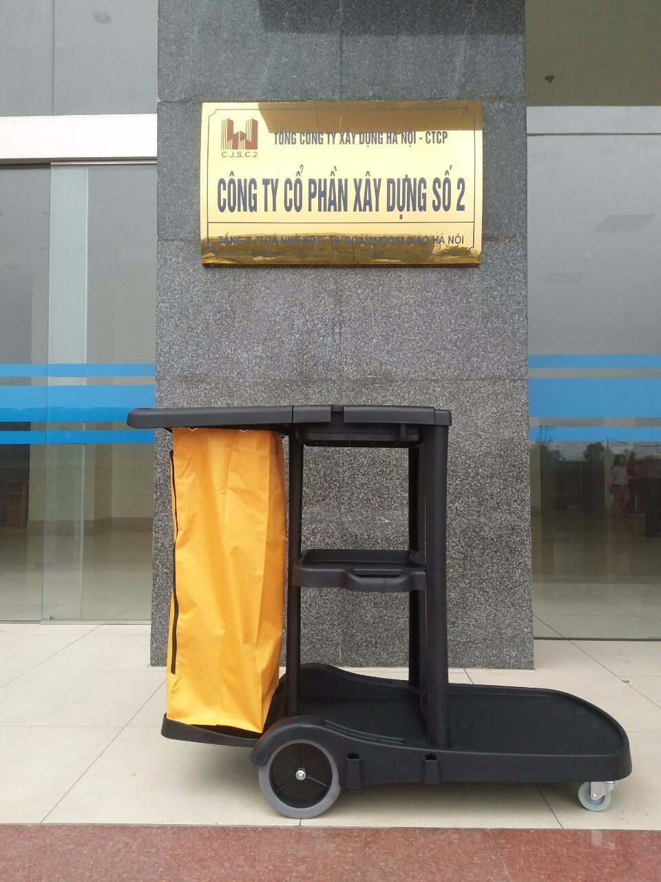 Xe dọn vệ sinh 3 tầng bằng nhựa AF08180