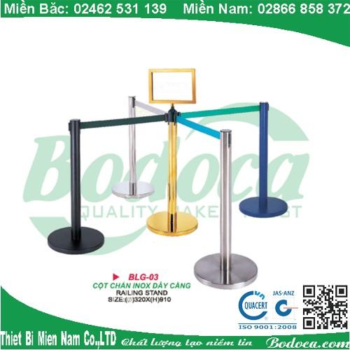 Cột chắn inox dây 2m dùng cho sân bây