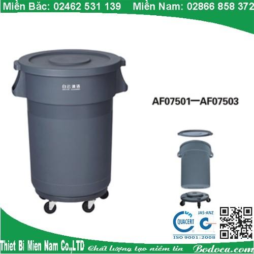 Thùng rác nhựa 168l cho nhà hàng AF07501