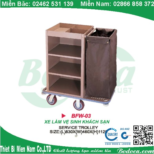 xe lam buong phong khach san bodoca BFW 03