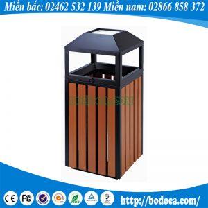 Chuyên phân phối thùng rác gỗ ngoài trời BHW-04T