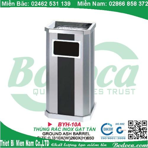 Thùng rác inox gạt tàn thuốc cao cấpBYH-10A