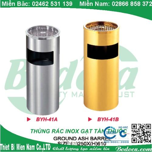 Thùng rác inox gạt tàn thuốc lá YH-41