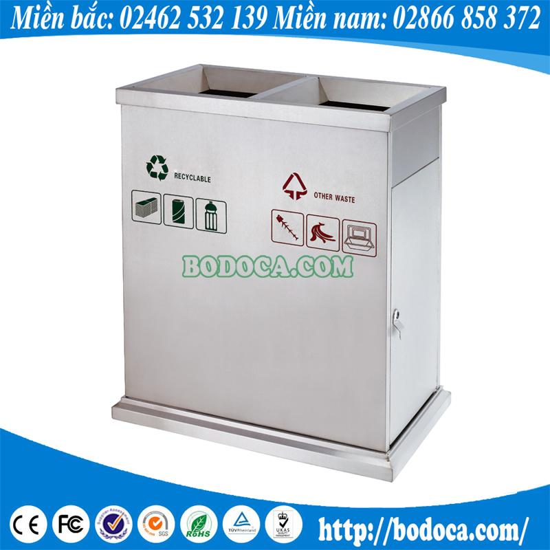 Thùng rác inox 2 ngăn tiện lợi BHW-90