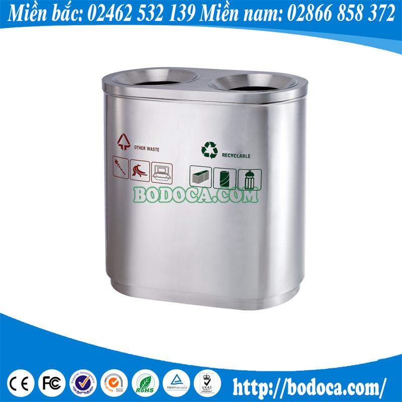 Thùng rác inox 2 ngăn tiện lợi BHW-95