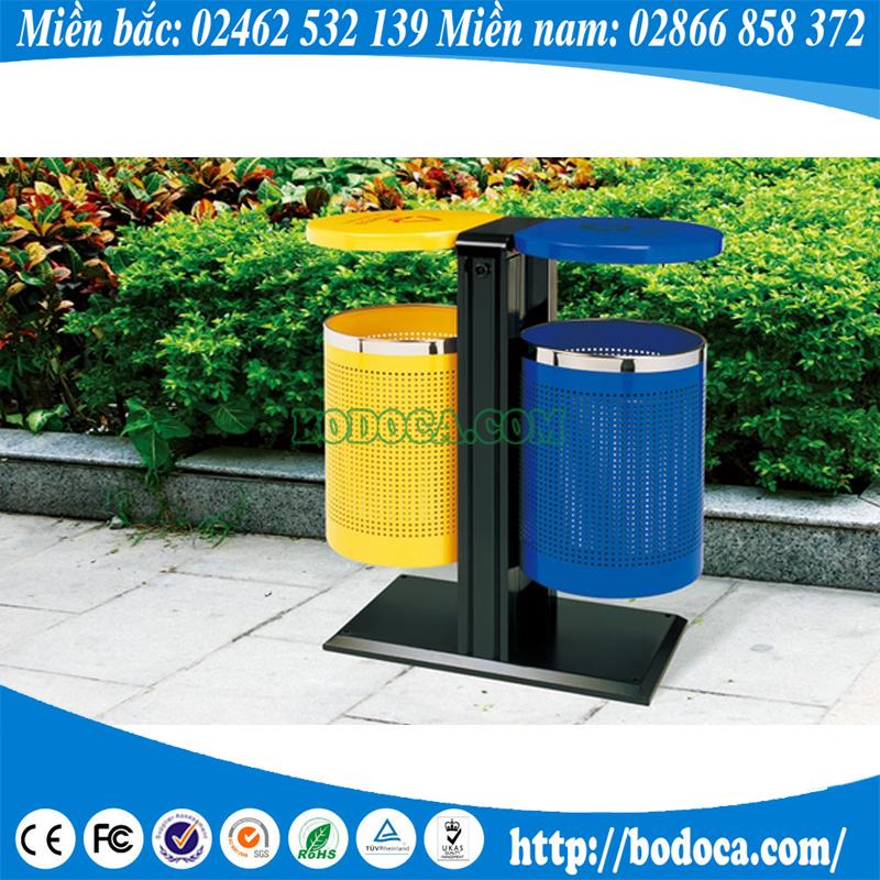 Thùng rác treo đôi tiện lợi BHW-14