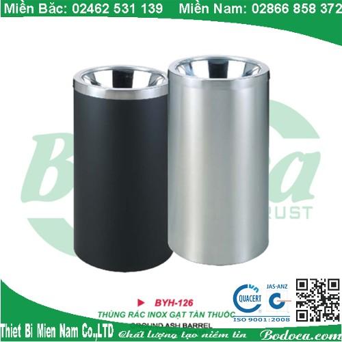 Thùng đựng rác inox tròn BYH-126