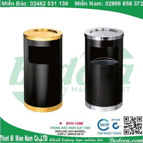 Thùng rác gạt tàn inox BYH-130