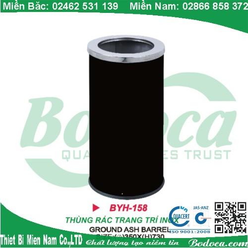 Thùng rác thép phun sơn tĩnh điện BYH-158A