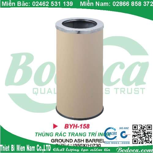 Thùng rác inox chính hãng BYH-158B