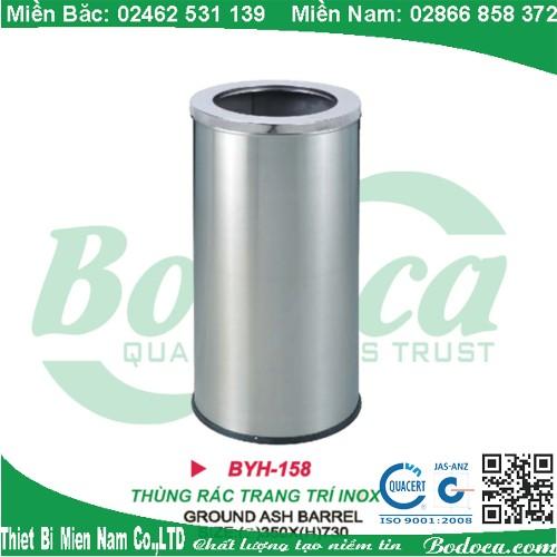 Thùng rác tròn inox dày dặn BYH-158