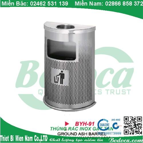 Thùng rác bán nguyệt gạt tàn BYH-91C
