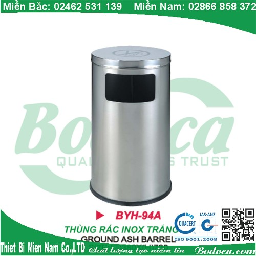 Thùng rác inox tròn gạt tàn YH-94AA