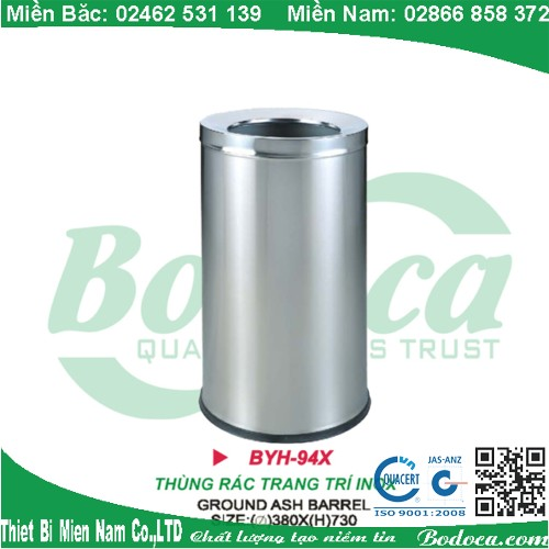 Thùng rác inox tròn BYH-94XB