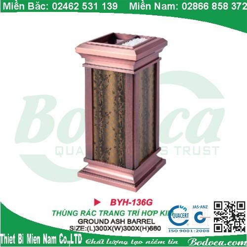 Thùng rác inox trang trí giá rẻ BYH-136G