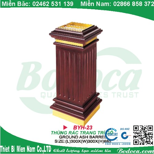 Thùng rác gỗ sang trọng gạt tàn BYH-23