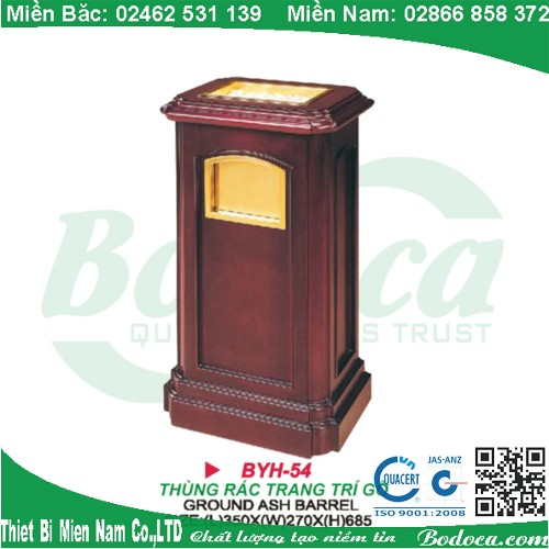 Thùng rác gỗ cao cấp sang trọng BYH-54