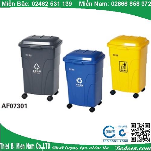 Thùng rác nhựa 70 lít có bánh xe AF07301