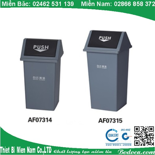 Thùng rác nhựa 55 lít nắp lậtAF07315