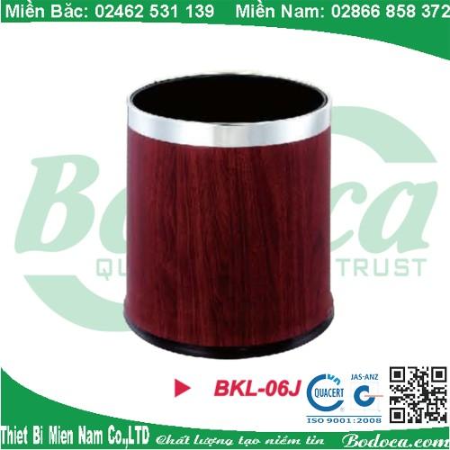 Mua thùng rác phun sơn vân gỗ BKL-06J