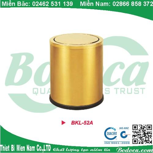 Thùng rác mạ vàng nắp bập bênh BKL-52A