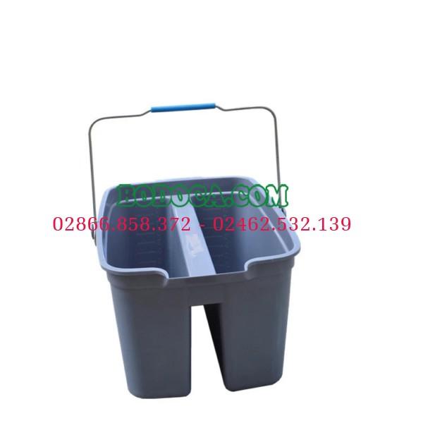 Xô lau kính 2 ngăn nhựa AF08403